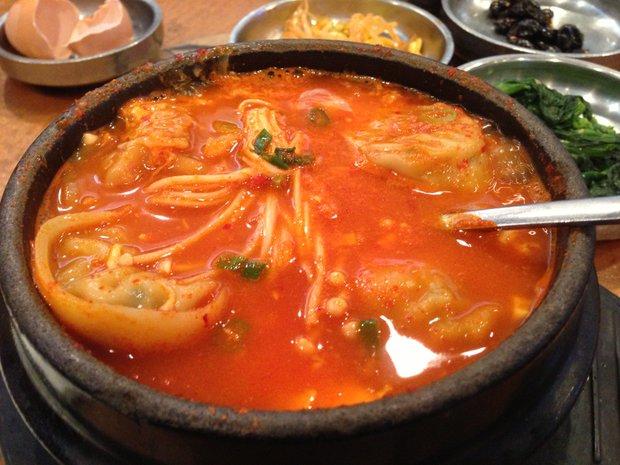 Dumpling tofu stew, SPICY