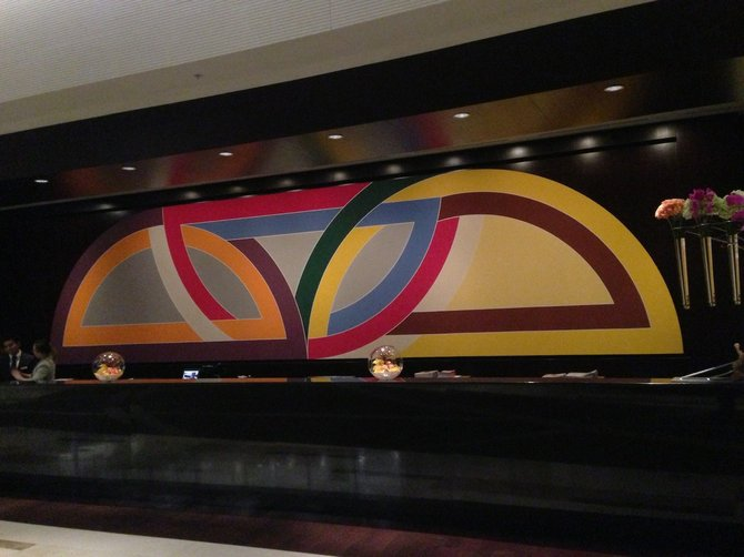 Frank Stella's painting in the lobby of Vdara