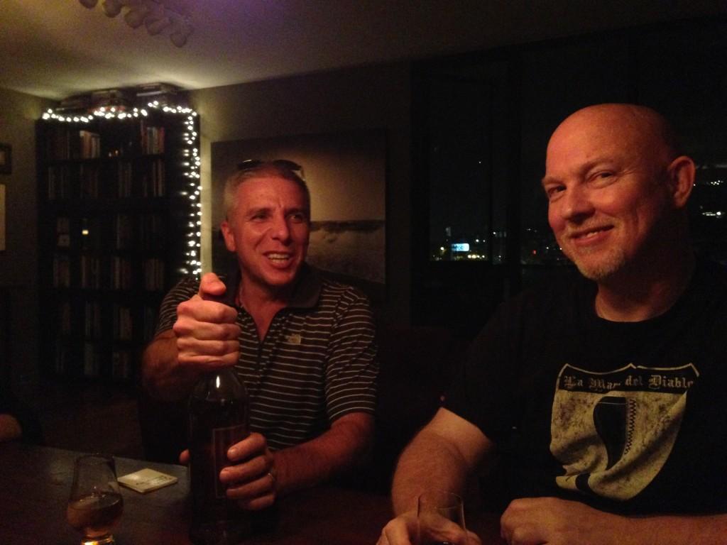 Sean and David, enjoying themselves