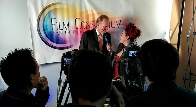 Me interviewing Mayor Kevin Faulconer