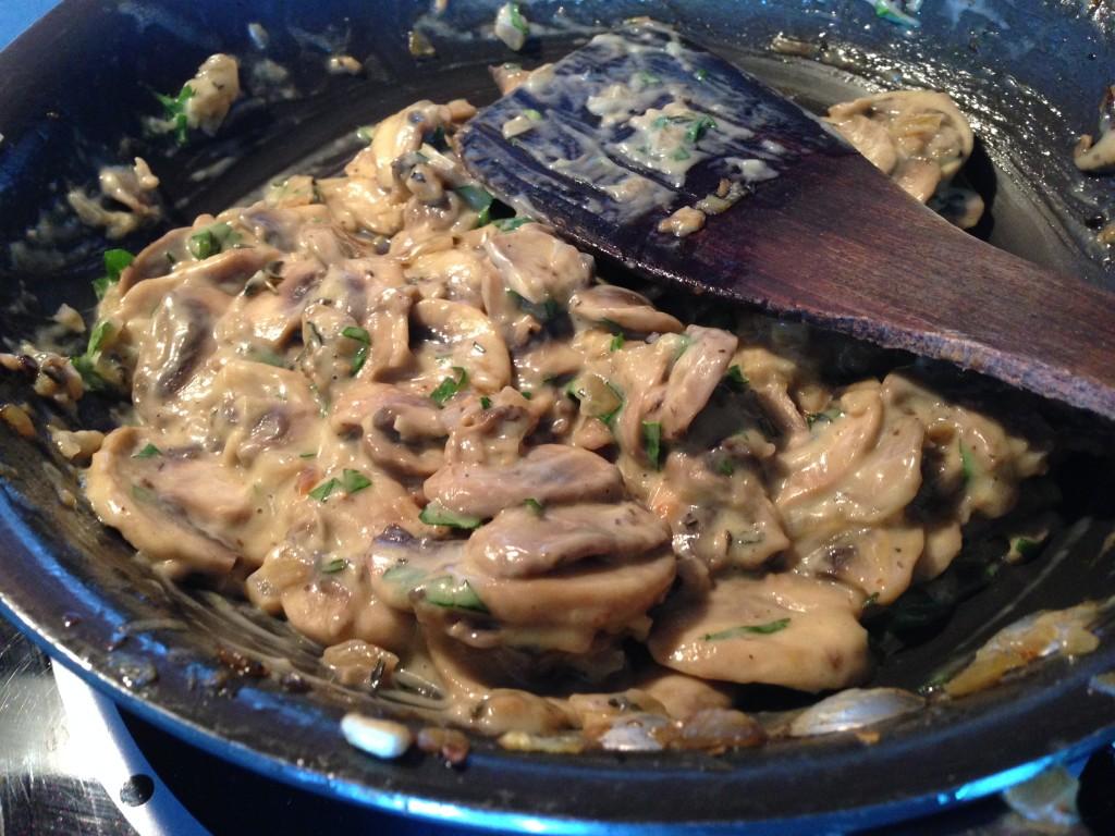 Mushrooms in the pan