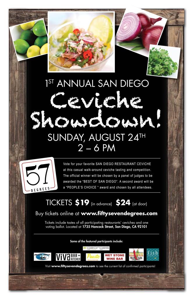 1st Annual Ceviche Showdown Event Flyer
