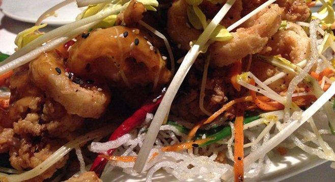 Exceptional calamari at Eddie V's