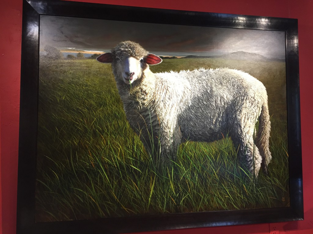 Heather Neill's painting of a sheep was magnificent