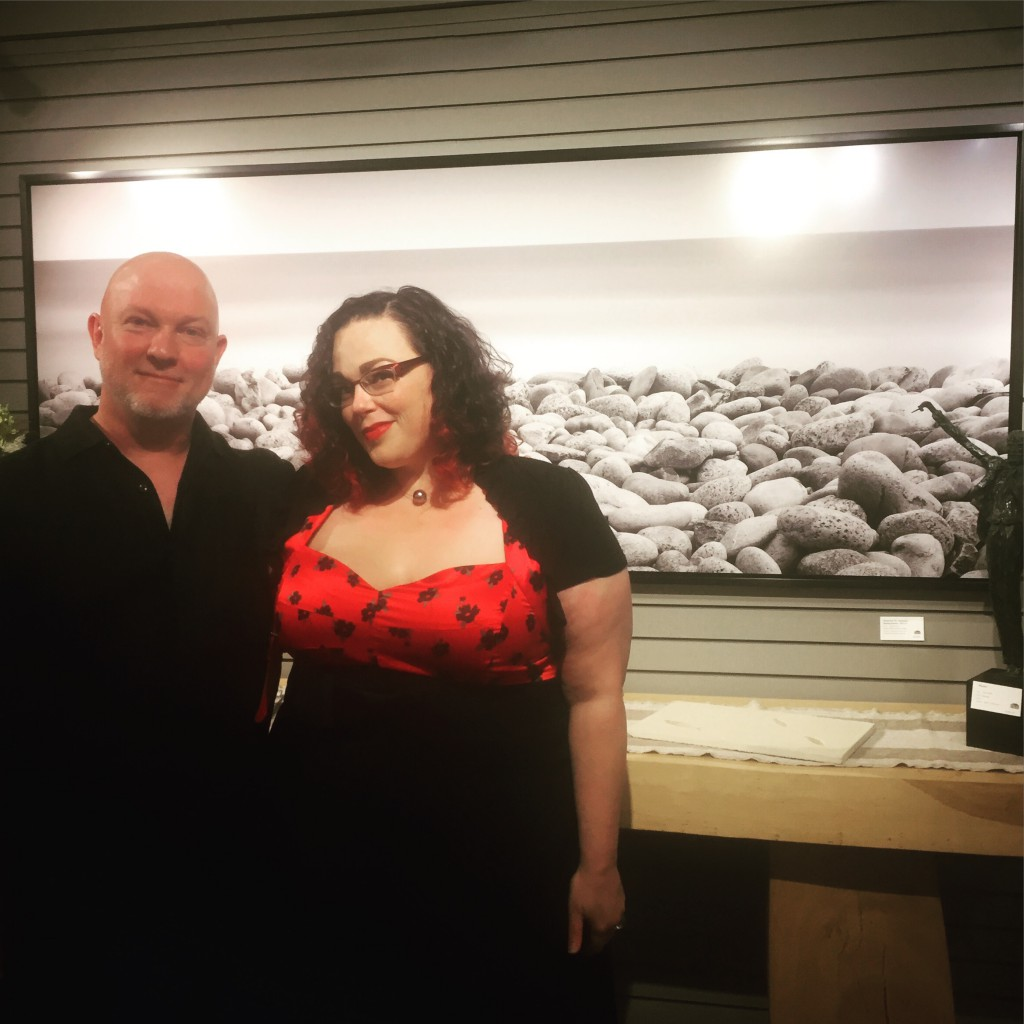 A shot of the artist and his lady, at his exhibition